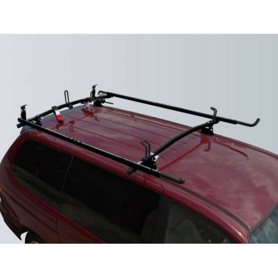 "Vantech - Vantech M4002B Universal Rack System 60"" Angled Cross Bars and 72"" Side Rails Black Steel (Drilling Required)"
