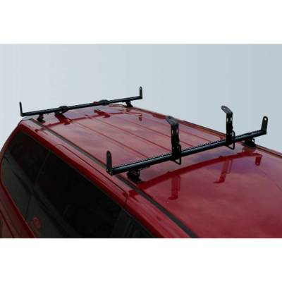 "Vantech - Vantech J2010B Black Rack System with 55"" Cross Bars Black Aluminum (Drilling Required)"