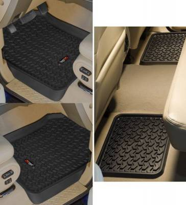 Rugged Ridge - Rugged Ridge 82987.23 All Terrain Floor Liner Kit Front And Rear Black Ford F150 Supercrew Regular And Extended Cab 09-2010