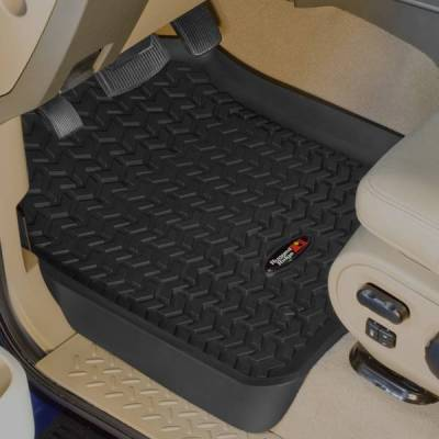 Rugged Ridge - Rugged Ridge 82902.07 All Terrain Floor Liners Front Pair Black Ford F250 And F350 Superduty 1999-2007