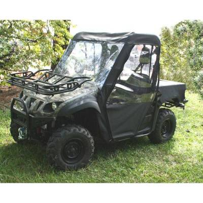 Rugged Ridge - Rugged Ridge 63310.01 Cab Enclosure UTV Yamaha Right Handino Black Full Soft Top With Doors