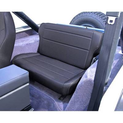 Rugged Ridge - Rugged Ridge 13462.15 Fold & Tumble Rear Seat Black Denim 1976-1995 Jeep CJ & Wrangler