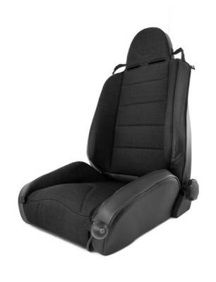 Rugged Ridge - Rugged Ridge 13416.15 Front Seat XHD Off Road Seat Black With Black Insert Jeep Wrangler TJ 1997-2006