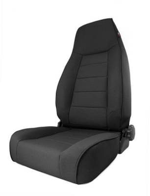 Rugged Ridge - Rugged Ridge 13445.15 Front Seat XHD Reclining Seat Black Denim Jeep Cherokee XJ 1984-2001