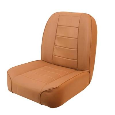 Rugged Ridge - Rugged Ridge 13400.04 Low Back Front Bucket Seat Tan 1955-1986 Jeep CJ