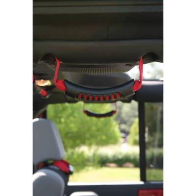 Rugged Ridge - Rugged Ridge 13305.15 Grab Handle Pair Ult Rear Jeep Wrangler JK Red 2007-2010