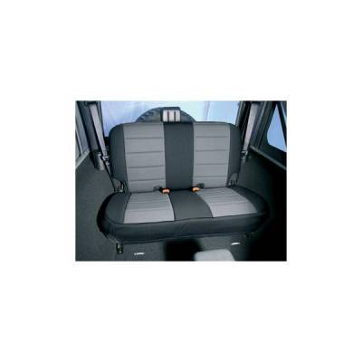 Rugged Ridge - Rugged Ridge 13261.09 Neoprene Seat Cover Rear Gray 1997-2002 Wrangler