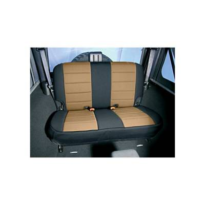 Rugged Ridge - Rugged Ridge 13261.04 Neoprene Seat Cover Rear Tan 1997-2002 Wrangler