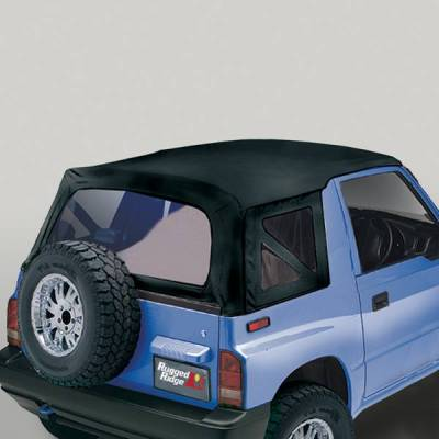 Rugged Ridge - Rugged Ridge 53723.15 XHD Replacement Soft Top Black Denim 1995-1998 Suzuki Sidekick/Geo Tracker 30 Mil Glass