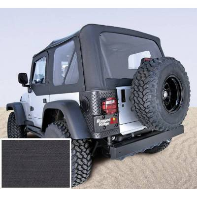 Rugged Ridge - Rugged Ridge 13725.15 XHD Replacement Soft Top No Door Skins 1997-2002 Wrangler Denim Black 30 Mil Glass