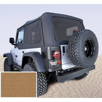 Rugged Ridge - Rugged Ridge 13726.37 XHD Replacement Soft Top No Door Skins Tinted Wndws 1997-2002 Wrangler Spice 30 Mil Glass