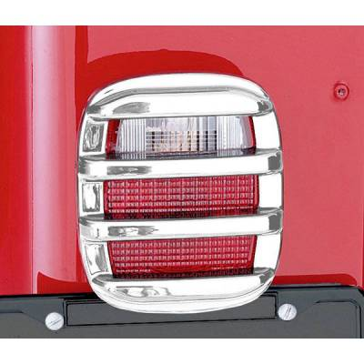 Rugged Ridge - Rugged Ridge 11354.03 Tail Light Guard Set Chrome 1976-2006 CJ/Wrangler