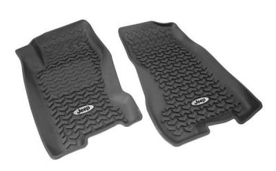 Rugged Ridge - Rugged Ridge DMC-12920.27 Floor Liner Jeep Logo Front WJ
