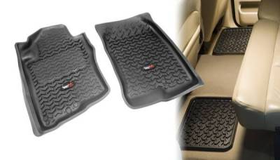 Rugged Ridge - Rugged Ridge 82987.80 All Terrain Floor Liners Four Piece Black Nissan Xterra 2005-2012 Pathfinder 2005-2012 1st & 2nd Row