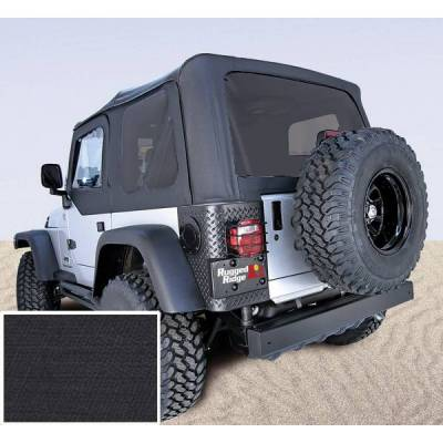 Rugged Ridge - Rugged Ridge 13710.35 Soft Top Factory Replacement No Door Skins Tinted Windows 2003-2006 Wrangler Diamond Black