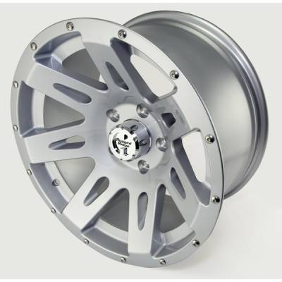 Rugged Ridge - Rugged Ridge 15301.40 Aluminum Wheel 17X9 Jeep Wrangler JK 2007-2010 Silver 12MM Offset 5 On 5
