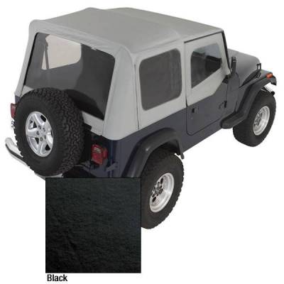Rugged Ridge - Rugged Ridge 13701.15 Soft Top Factory Replacement With Door Skins 1988-1995 Wrangler Black Denim