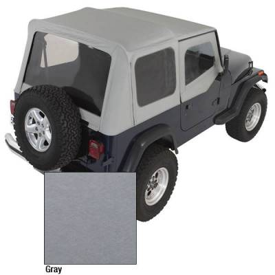 Rugged Ridge - Rugged Ridge 13701.09 Soft Top Factory Replacement With Door Skins 1988-1995 Wrangler Charcoal
