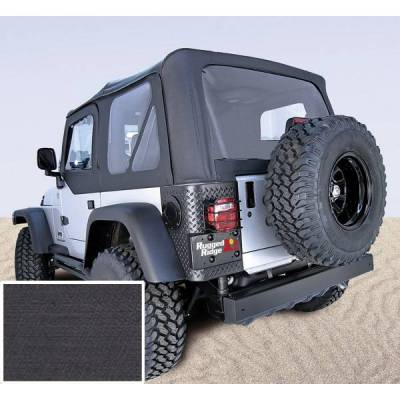 Rugged Ridge - Rugged Ridge 13703.15 Soft Top Factory Replacement With Door Skins 1997-2002 Wrangler Denim Black