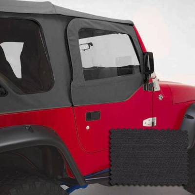 Rugged Ridge - Rugged Ridge 13714.15 Upper Door Pair 1997-2006 Black Denim