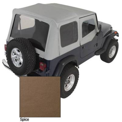 Rugged Ridge - Rugged Ridge 13721.37 XHD Replacement Soft Top with Door Skins 1988-1995 Wrangler Spice 30 Mil Glass