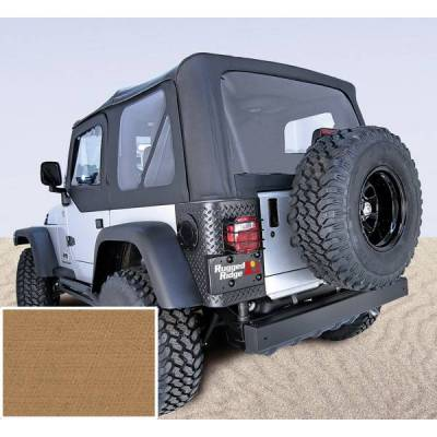 Rugged Ridge - Rugged Ridge 13723.37 XHD Replacement Soft Top with Door Skins 1997-2002 Wrangler Spice 30 Mil Glass