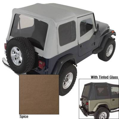 Rugged Ridge - Rugged Ridge 13722.37 XHD Replacement Soft Top with Door Skins Tinted Wndws 1988-1995 Wrangler Spice 30 Mil Glass