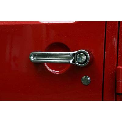 Rugged Ridge - Rugged Ridge 13311.11 Door Handle Cover Kit Chrome Jeep Wrangler JK 2007-2011 2-Door