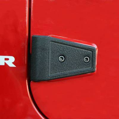 Rugged Ridge - Rugged Ridge 11202.04 Door Hinge Covers Textured Black Jeep Wrangler JK 2007-2012 2-Door