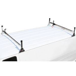 Vantech - Vantech H3191W White Cargo System 6 Cross Bars 4 mounting Base White Aluminum Ford Transit Connect (2009-2013)