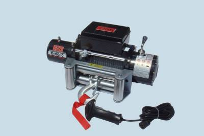 ENGO Winch - ENGO 77-10000PF EPF10000 10,000 lb 12 Volt Electric Winch Premium Finish