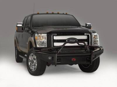 Fab Fours - Fab Fours FS99-S1662-1 Black Steel Front Winch Bumper Pre Runner Ford Super Duty 1999-2004