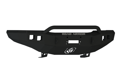 Road Armor - Road Armor 33704B Front Stealth Winch Bumper with Square Light Holes + Pre-Runner Bar Chevy Silverado 2500HD/3500 2003-2006