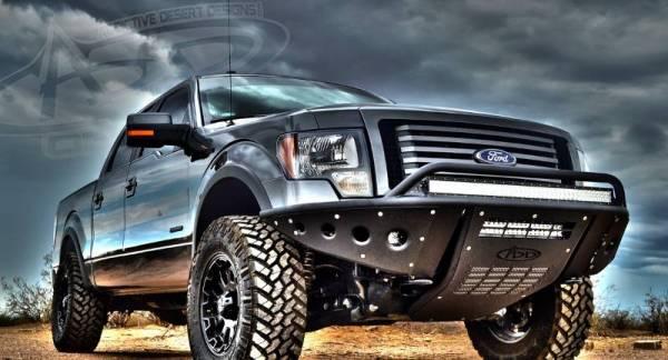 Addictive Desert Designs - ADD F052932680103 Winch Stealth Front Bumper Ford F-150 2009-2014
