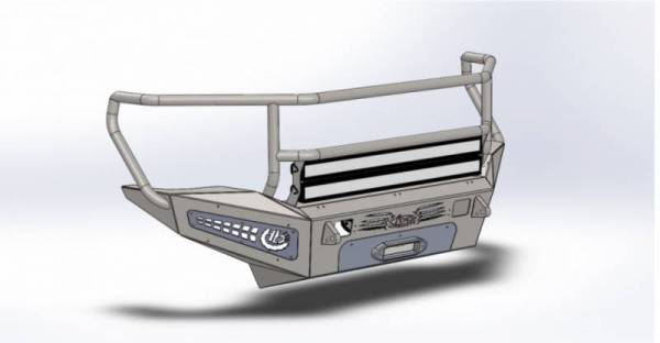 Addictive Desert Designs - ADD F317335010103 Honey Badger Rancher Front Bumper Chevy 2500 2007-2010