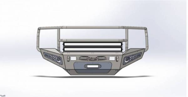 Addictive Desert Designs - ADD F317375010103 Honey Badger Rancher Front Bumper Chevy 2500 2007-2010