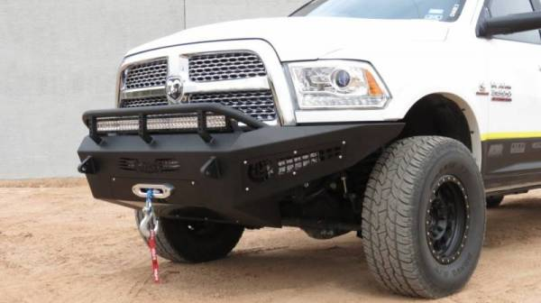 Addictive Desert Designs - ADD F517315000103 Non-Winch Honey Badger Front Bumper Dodge Ram 2500/3500 2010-2018