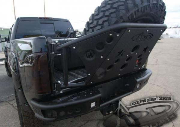 Addictive Desert Designs - ADD R2923012801NA Dimple Rear Bumper no Sensors Chevy Silverado 2500HD/3500 2011-2014