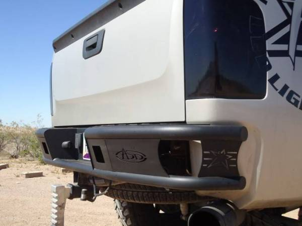 "Addictive Desert Designs - ADD R3023012801NA Dimple ""R"" Rear Bumper Chevy Silverado 1500 2007-2013"