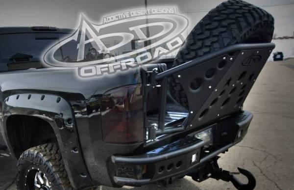 Addictive Desert Designs - ADD T31911NA0103 Rear Gate Tire Holder Chevy Silverado 2500/3500 2007-2010