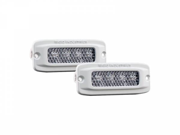 Rigid Industries - Rigid Industries 96550 SR-Q RGB Marine Diffused LED Light