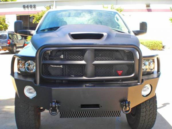 Aluminess - Aluminess 210115 Front Bumper with Brush Guard Dodge RAM 2500/3500 2003-2005