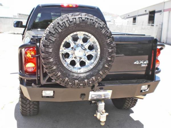 Aluminess - Aluminess 210047 Rear Bumper with Brush Guards & Swing Arms Dodge RAM 2500/3500 2003-2005