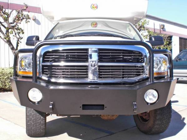 Aluminess - Aluminess 210046 Front Bumper with Brush Guard Dodge RAM 2500/3500 2006-2009