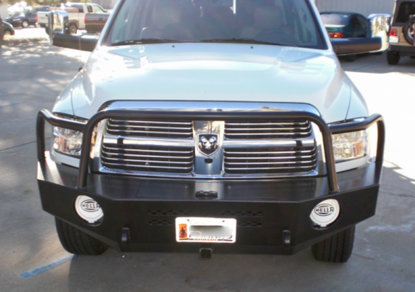 Aluminess - Aluminess 210173 Front Bumper with Brush Guard Dodge RAM 2500/3500 2010-2018