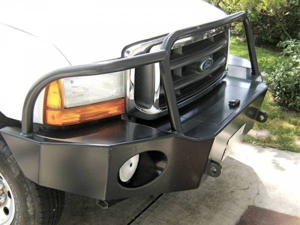 Aluminess - Aluminess 210039 Front Bumper with Brush Guard Ford F250/F350 1999-2004