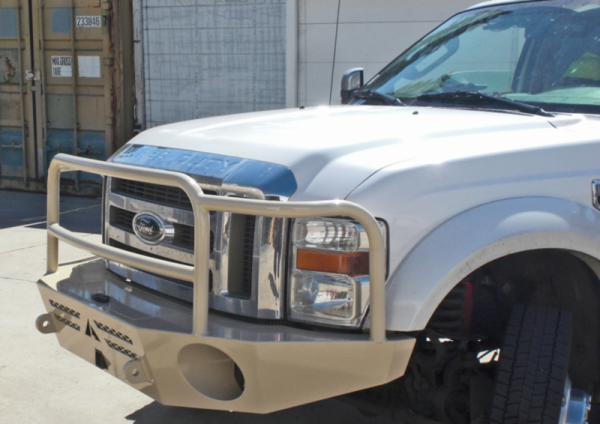 Aluminess - Aluminess 210041.1 Front Bumper with Brush Guard Ford F250/F350 2008-2010
