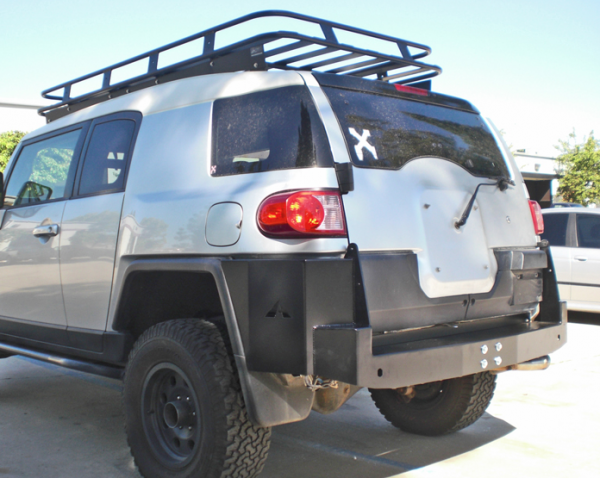 Aluminess - Aluminess 210130 Rear Bumper no Swing Arms Toyota FJ Cruiser