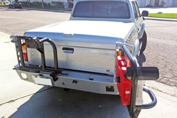 Aluminess - Aluminess 210233 Rear Bumper with Swing Arms Toyota Tacoma 2001-2004