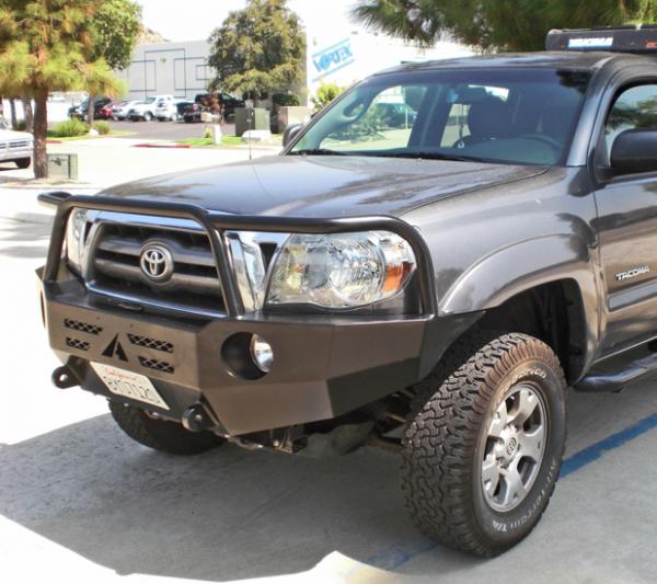 Aluminess - Aluminess 210099 Front Bumper with Brush Guard Toyota Tacoma 2005-2011